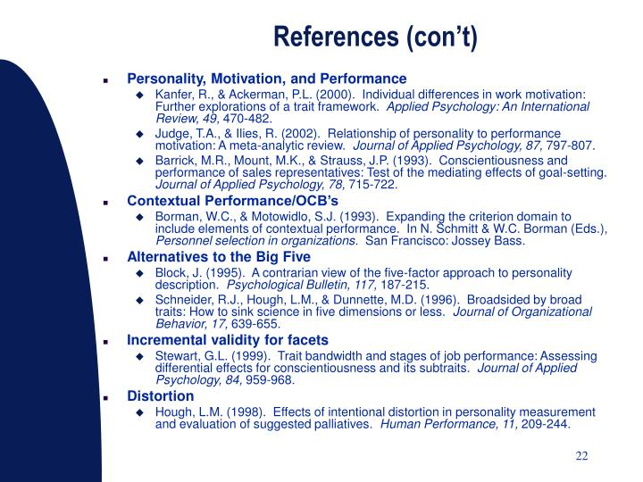 References (con't)