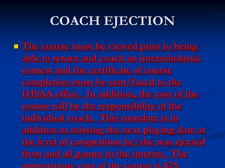 COACH EJECTION