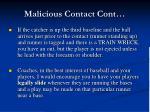malicious contact cont1
