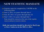 new statistic mandate1