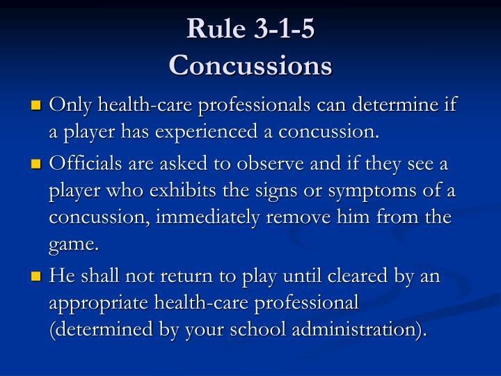 Rule 3-1-5