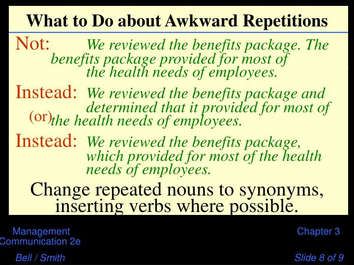 What to Do about Awkward Repetitions
