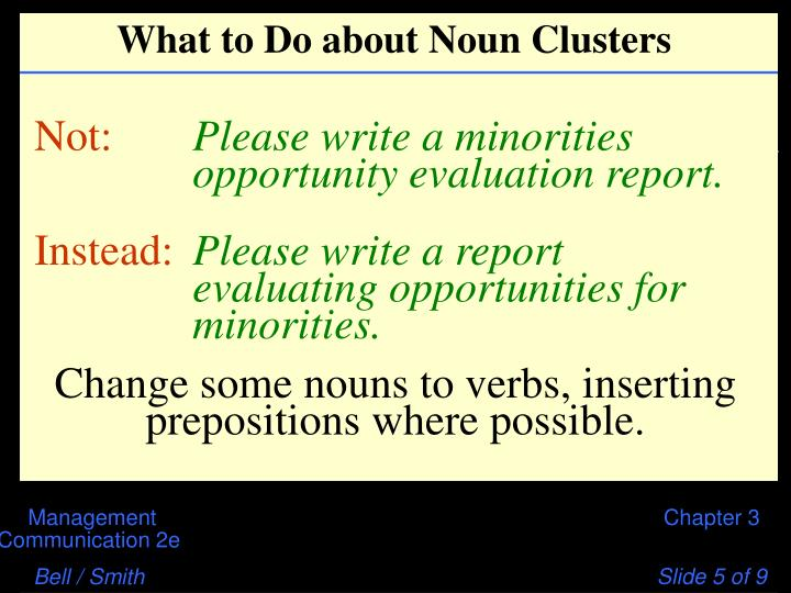 What to Do about Noun Clusters
