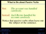 what to do about passive verbs