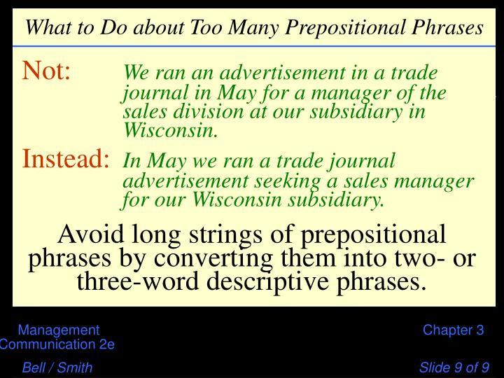 What to Do about Too Many Prepositional Phrases
