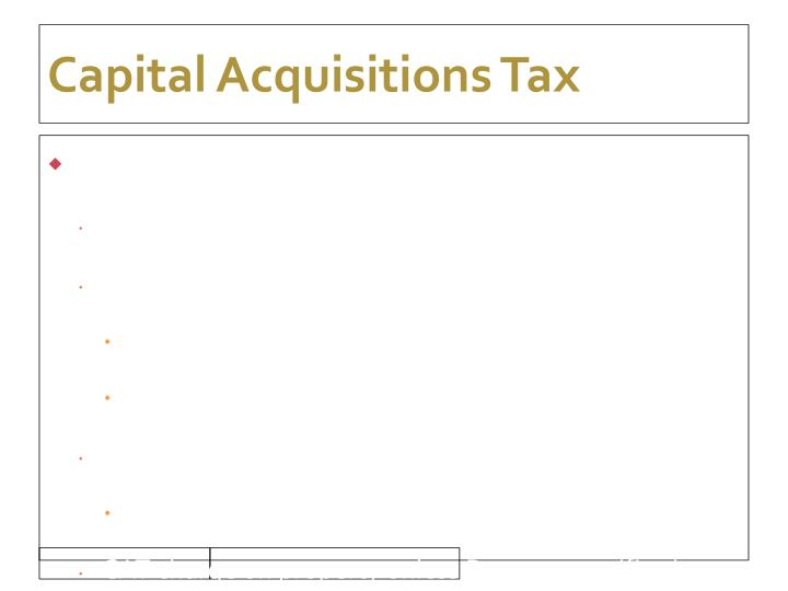 Capital Acquisitions Tax