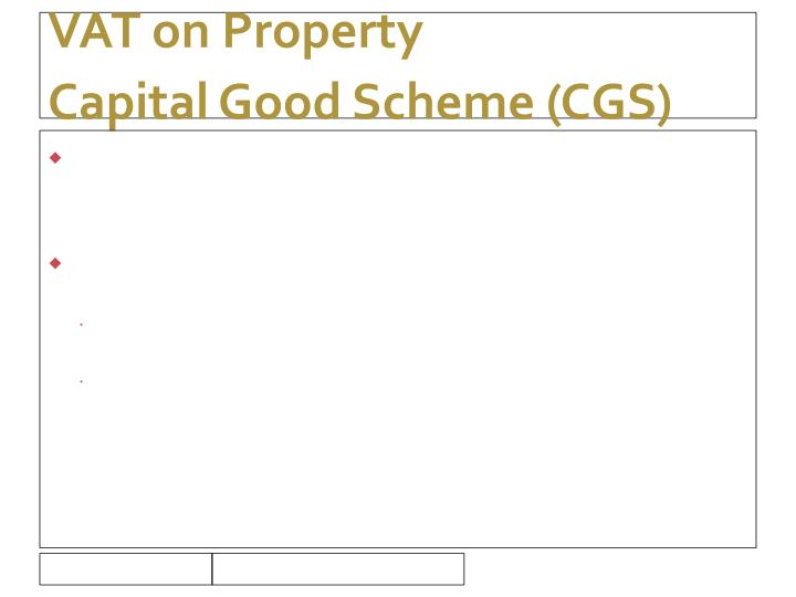 VAT on Property