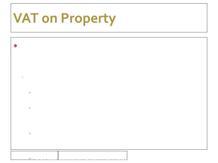 VAT on Property