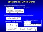 equations that govern waves