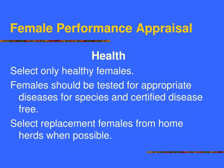 Female Performance Appraisal