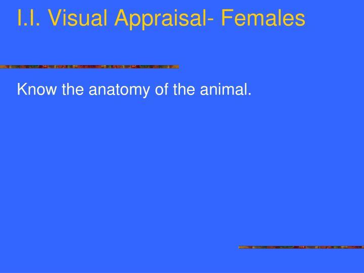 I. Visual Appraisal- Females
