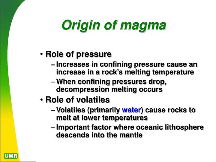 Origin of magma