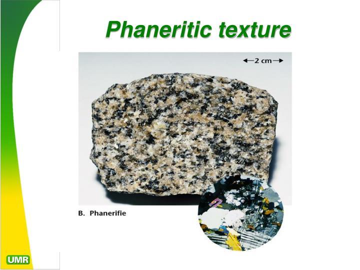 Phaneritic texture