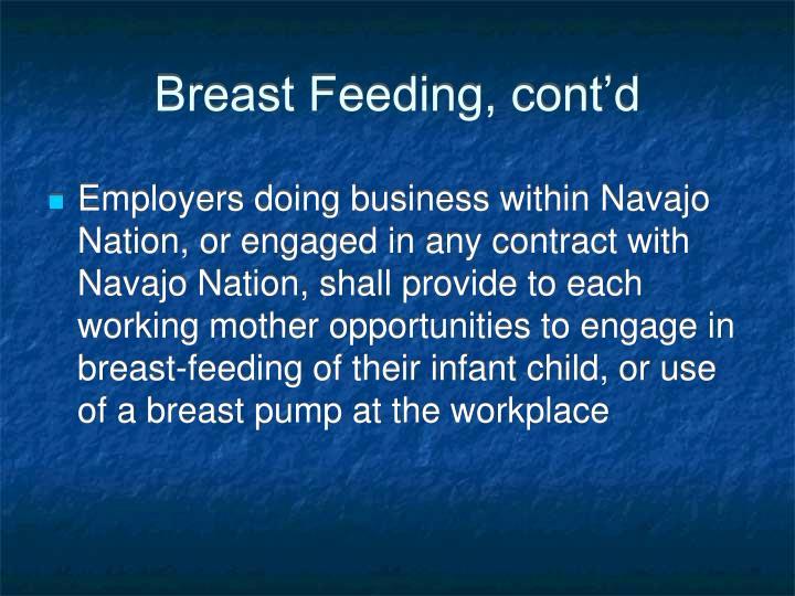 Breast Feeding, cont'd
