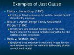 examples of just cause