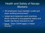 health and safety of navajo workers