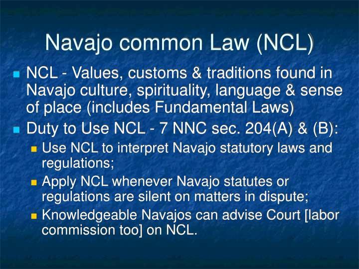 Navajo common Law (NCL)