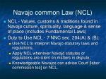 navajo common law ncl