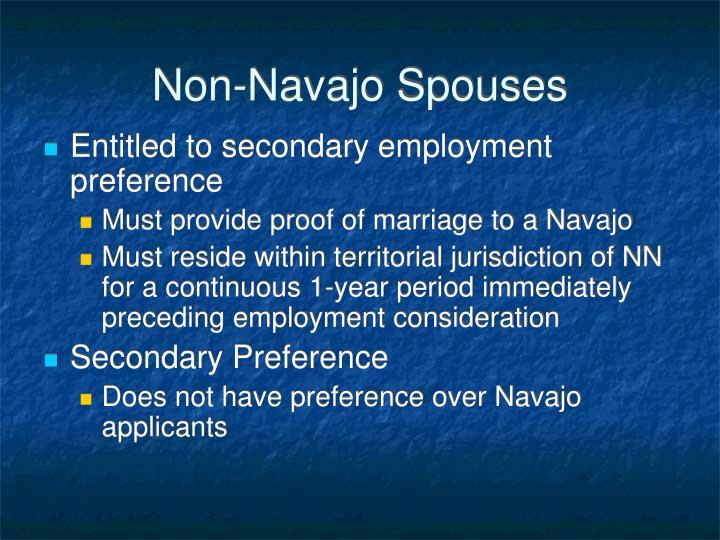 Non-Navajo Spouses