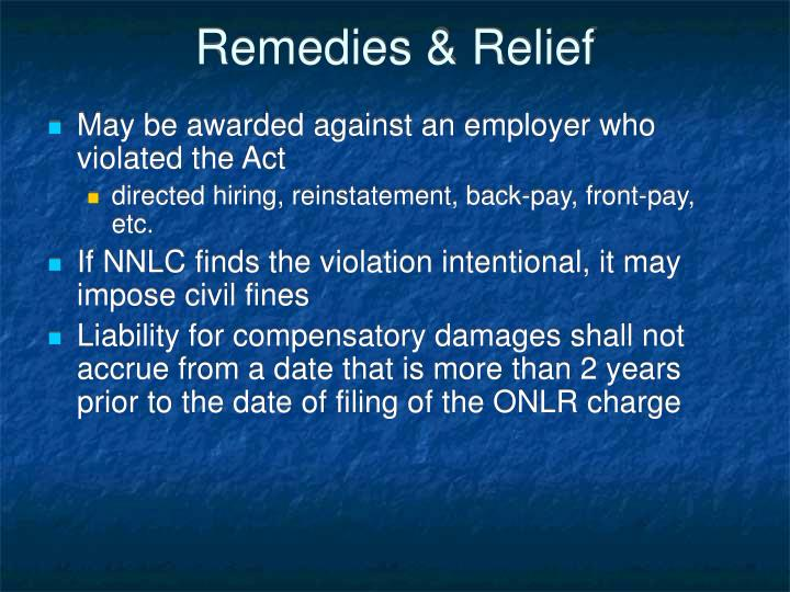 Remedies & Relief