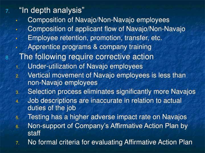 """In depth analysis"""