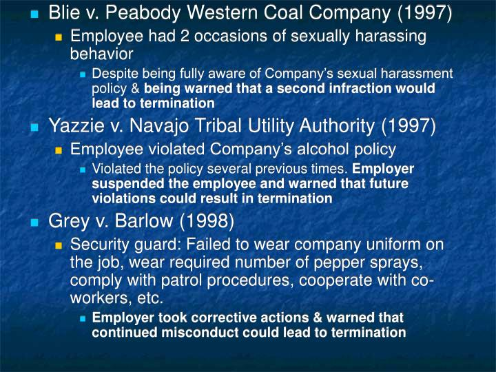 Blie v. Peabody Western Coal Company (1997)