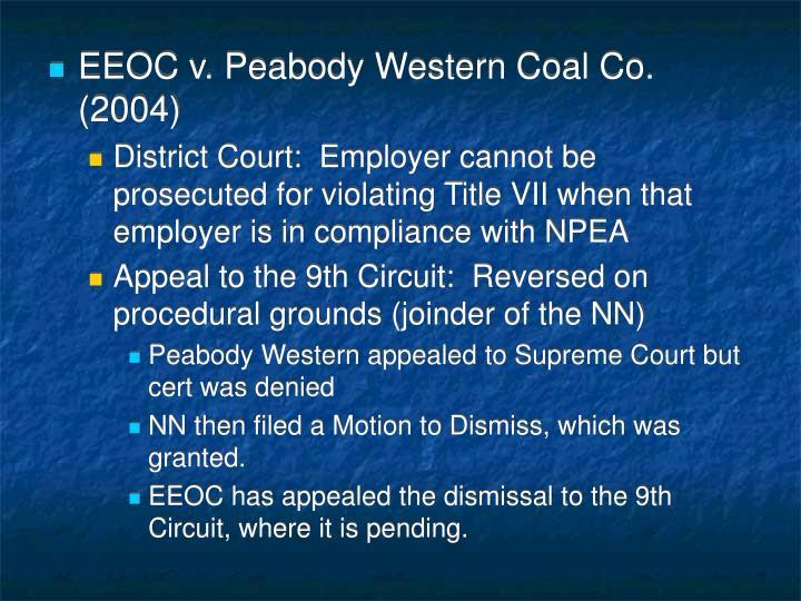 EEOC v. Peabody Western Coal Co. (2004)