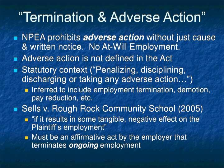"""Termination & Adverse Action"""