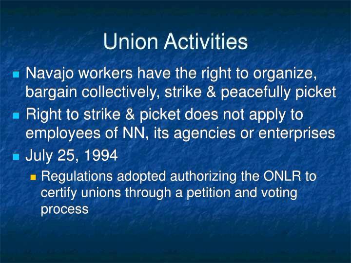 Union Activities