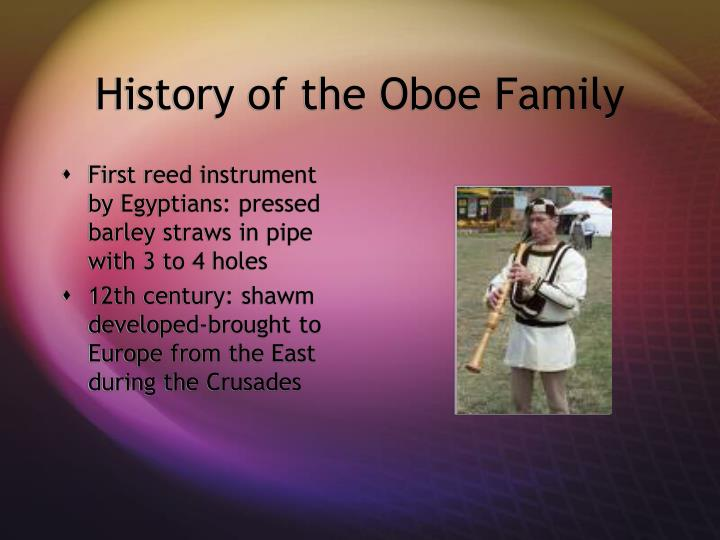 History of the Oboe Family