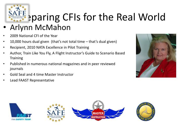 Preparing CFIs for the Real World