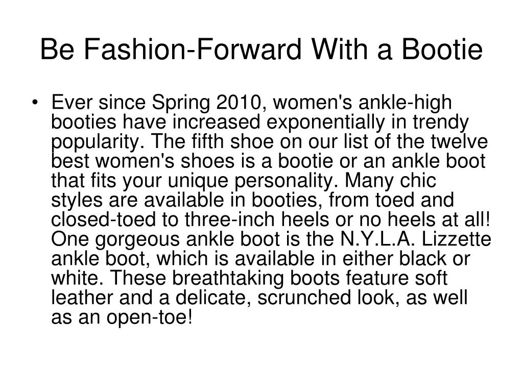 Be Fashion-Forward With a Bootie