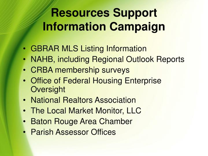 Resources Support