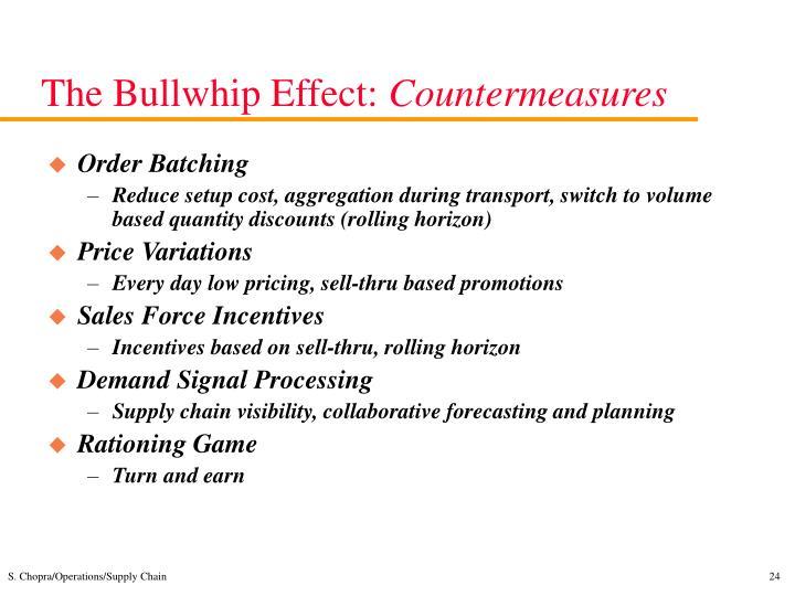 The Bullwhip Effect: