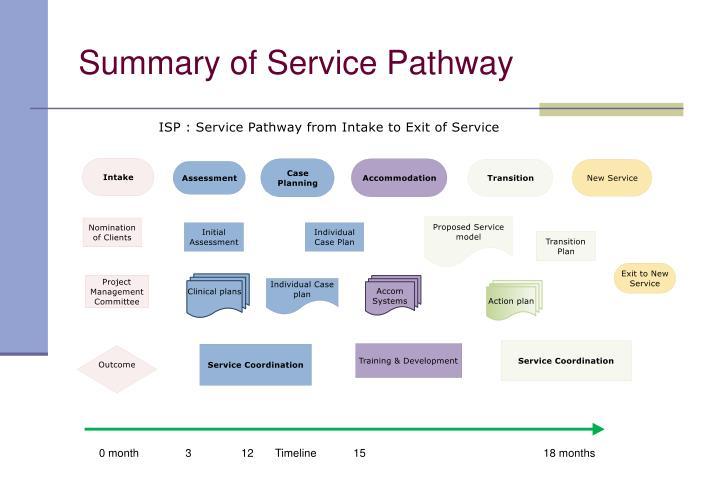 Summary of Service Pathway