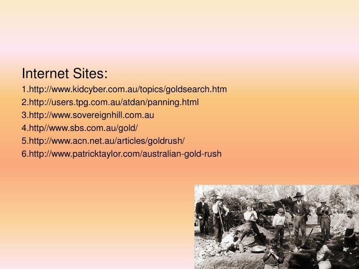 Internet Sites: