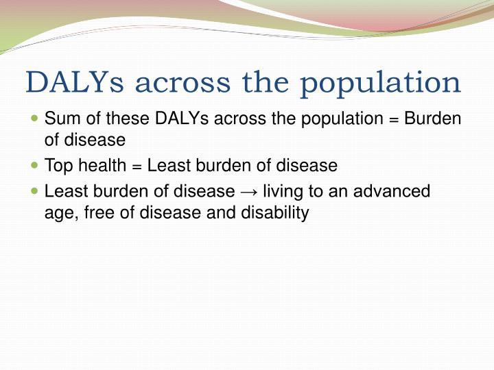 DALYs across the population