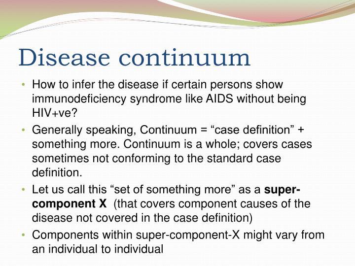 Disease continuum