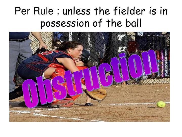 Per Rule :