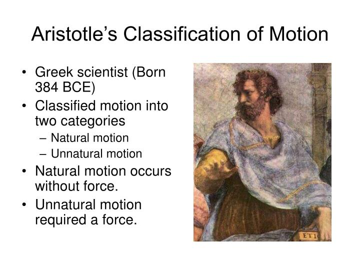 Aristotle s classification of motion