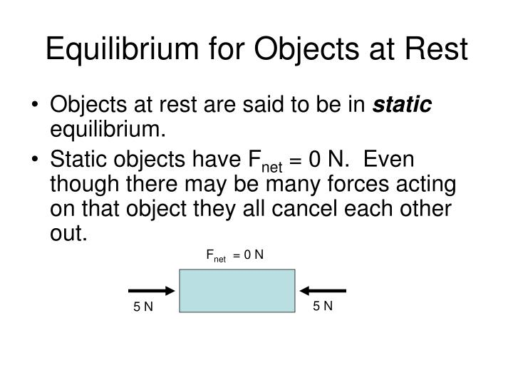 Equilibrium for Objects at Rest