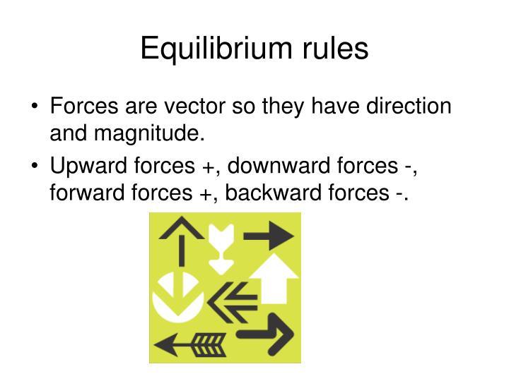 Equilibrium rules