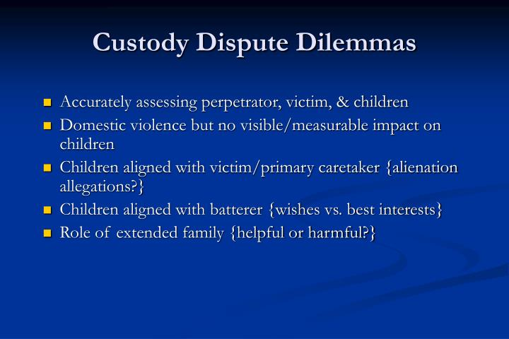 Custody Dispute Dilemmas