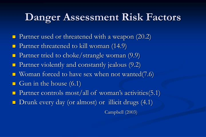 Danger Assessment Risk Factors