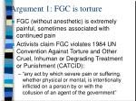 argument 1 fgc is torture