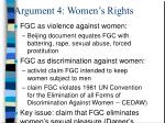 argument 4 women s rights