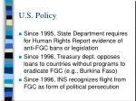 u s policy