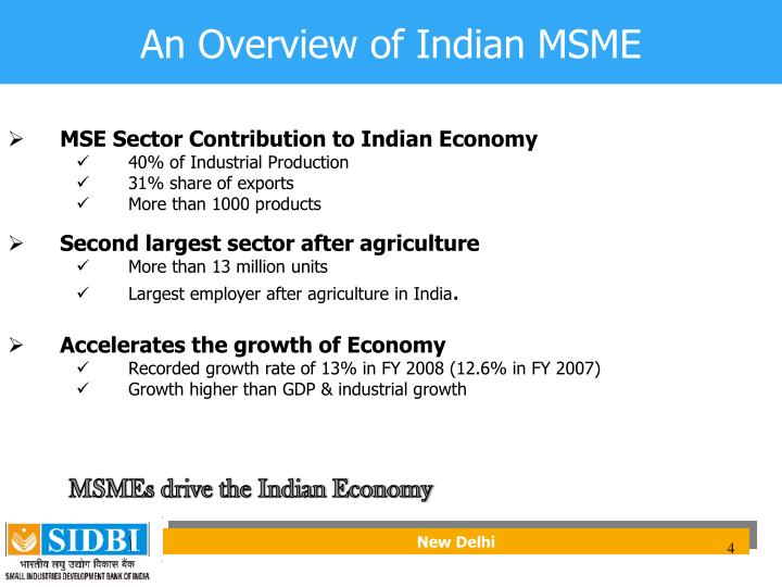 An Overview of Indian MSME