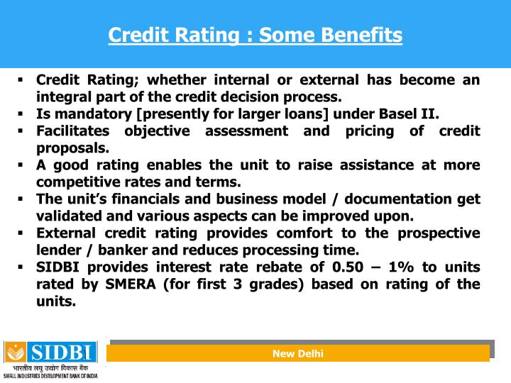 Credit Rating : Some Benefits