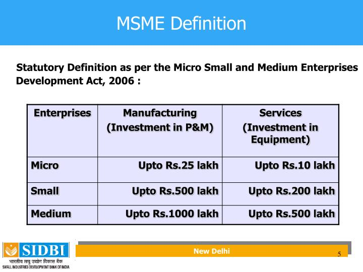 MSME Definition